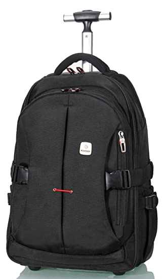 "68e223fc527e Amazon.com  19"" Rolling Carry-on Luggage Travel Duffel Bag for Men,TSA  Checkpoint Friendly Wheeled Backpack"