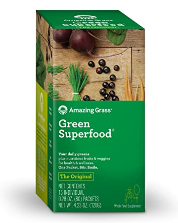Amazing Grass Green Superfood Organic Wheat Grass And 7 Super Greens Powder 2 Servings Of