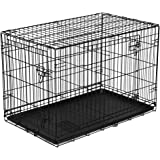 """New Vibrant-Life Double-Door Folding Wire Dog Crate with Divider, 36"""" L"""