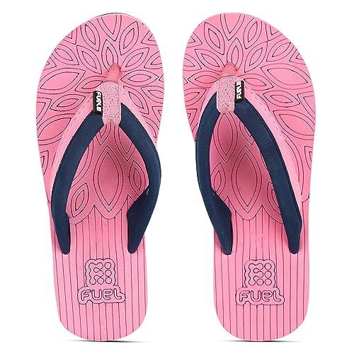 e3f21e67ddc1 FUEL Women s Girls Soft Strap Solid Pink Blue Eva Sole Beach