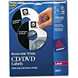 """Avery 5931 Laser Labels Shuttered Jewel Case Inserts with Software for CD/DVD, 4 5/8"""" Diameter, White (AVE5931)"""