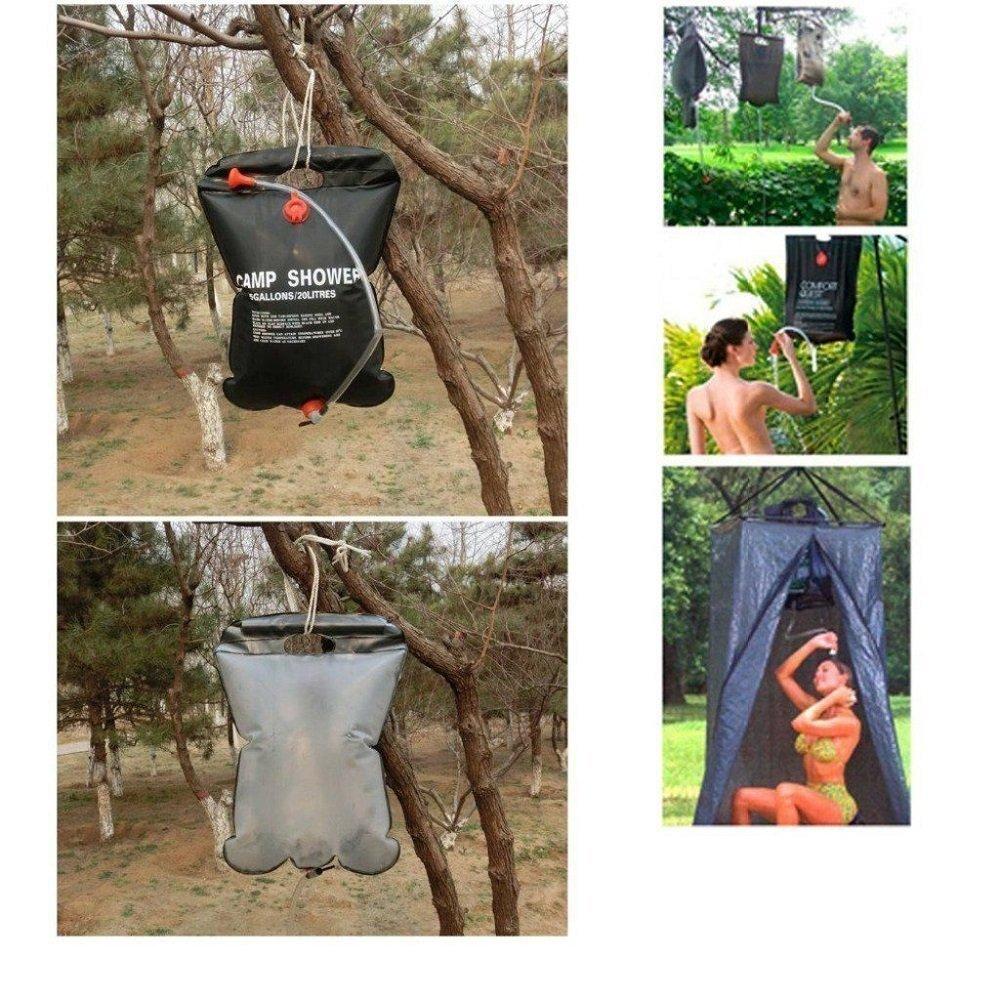 Chauffage Solaire Douche dext/érieur Camping des eaux de baignade Sac ext/érieur Romote Solaire Camp Douche Sac