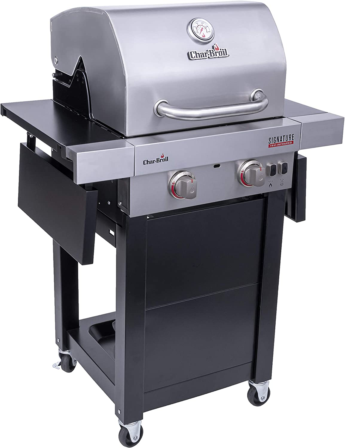 Char-Broil 463632320 Signature TRU-Infrared 2-Burner Cart Style Gas Grill, Stainless/Black