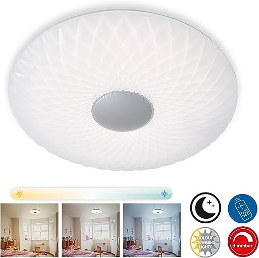 telecomando Lampada Illuminazione LED con Luce Bianco Caldo incl