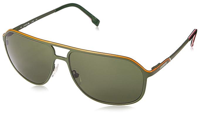 ujęcia stóp różne kolory przystępna cena Lacoste Men's L139S Aviator Sunglasses, Green, 60 mm: Amazon ...