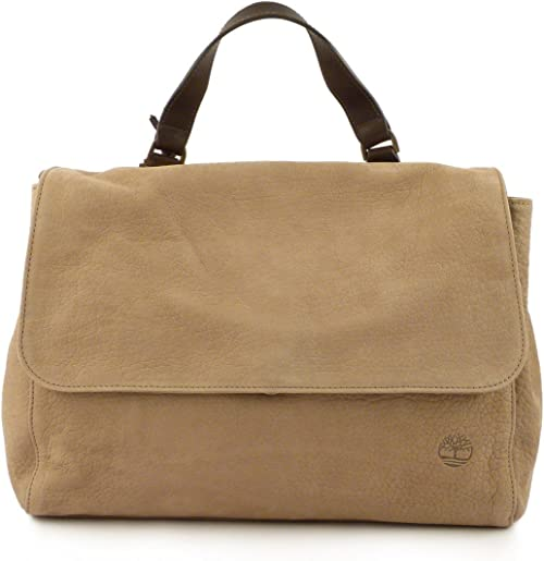 Timberland Borsa donna postman M5509 beige F45 Made in Italy