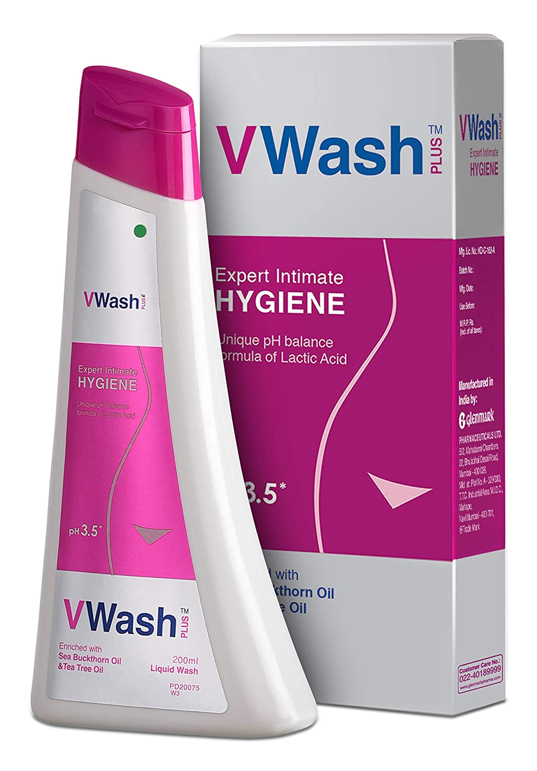 VWash Plus Intimate Hygiene Wash - 200 ml