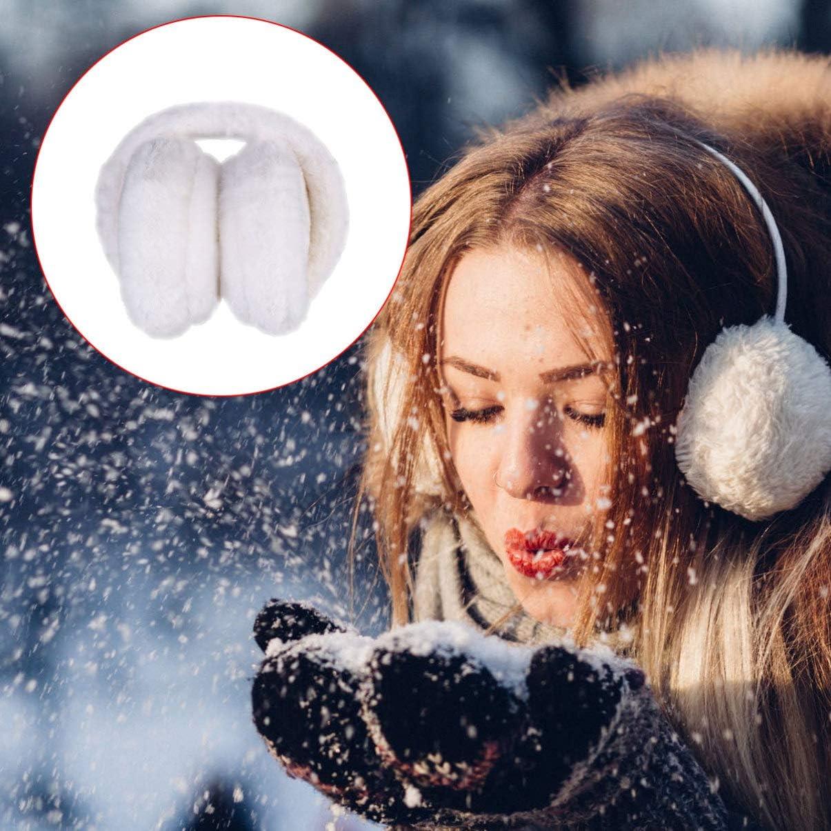 Healifty Winter Ear Muffs Unisex Earwarmer Outdoor Earmuffs for Sports Personal Care 1PC White