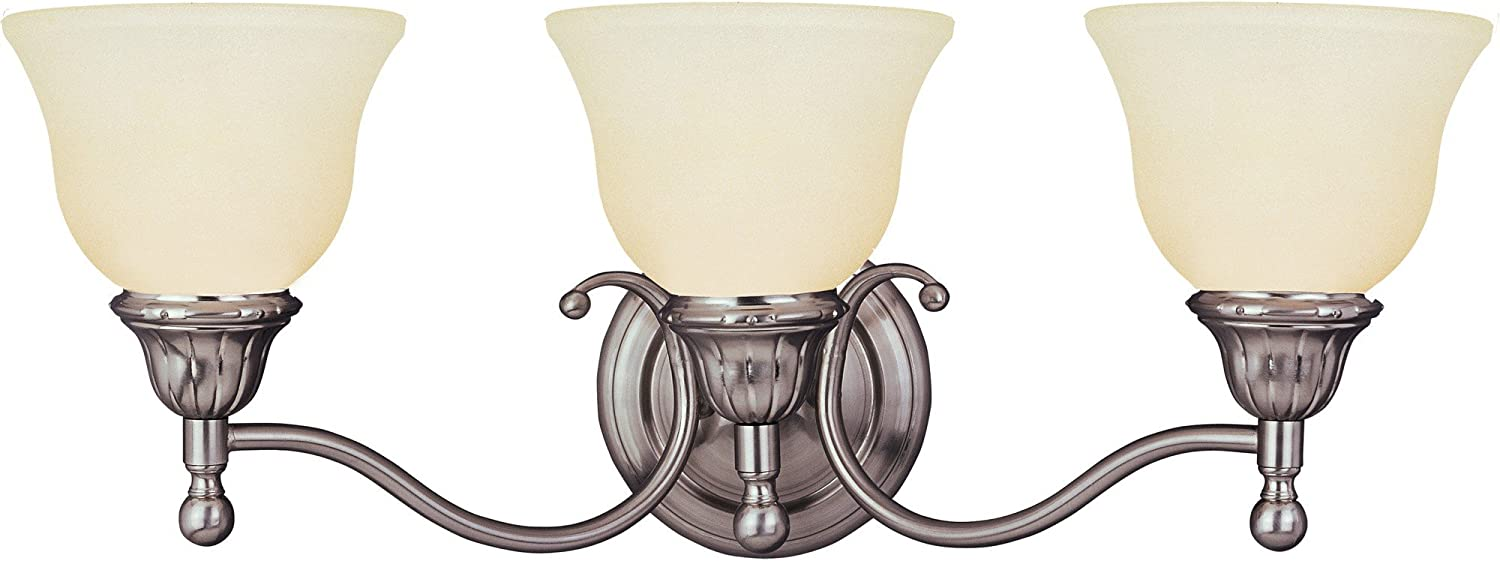 B000E0U808 Maxim 11058SVSN Soho 3-Light Bath Vanity, Satin Nickel Finish, Soft Vanilla Glass, MB Incandescent Incandescent Bulb , 60W Max., Dry Safety Rating, Standard Dimmable, Metal Shade Material, Rated Lumens 71orc2BmCfsL