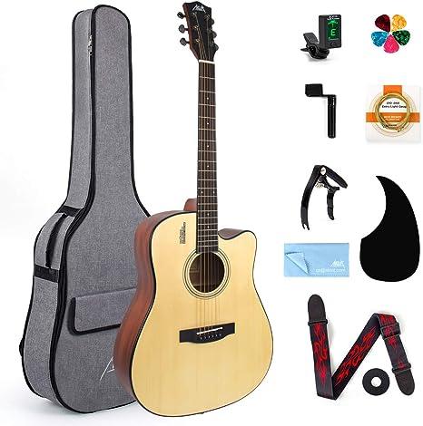 Aklot Guitarra Acústica,4/4 abeto y caoba Guitarra Folk Acustica ...