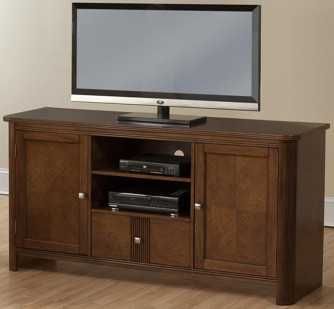 New Classic Leila Entertainment African Chestnut Console by New Classic Furniture