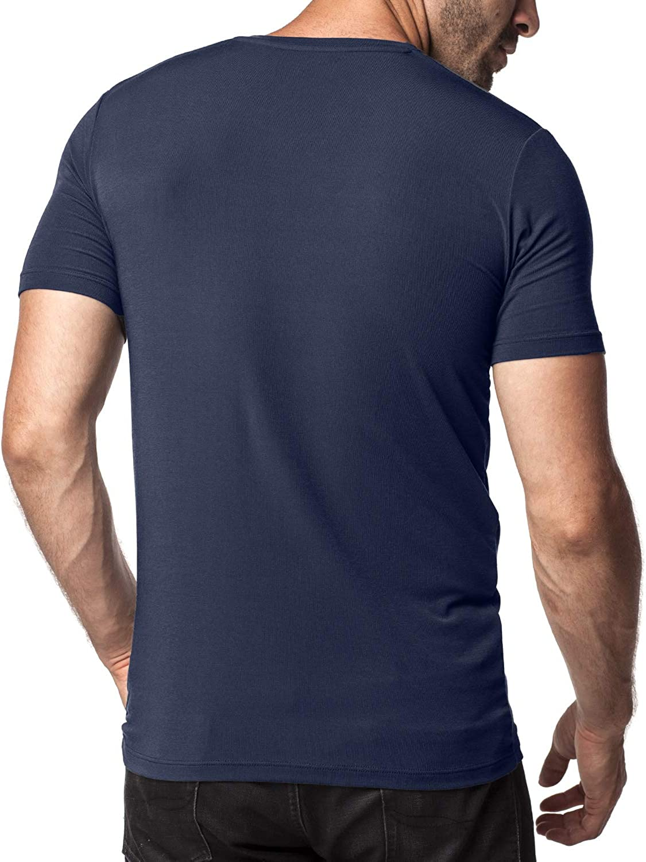 Micro Modal Undershirts Short Sleeve T-Shirt M07 Super Soft and TAG Free M08 LAPASA 2 Pack Mens Vests