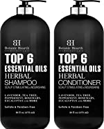 Top 6 Essential Oils Herbal Shampoo and Conditioner Set By Botanic