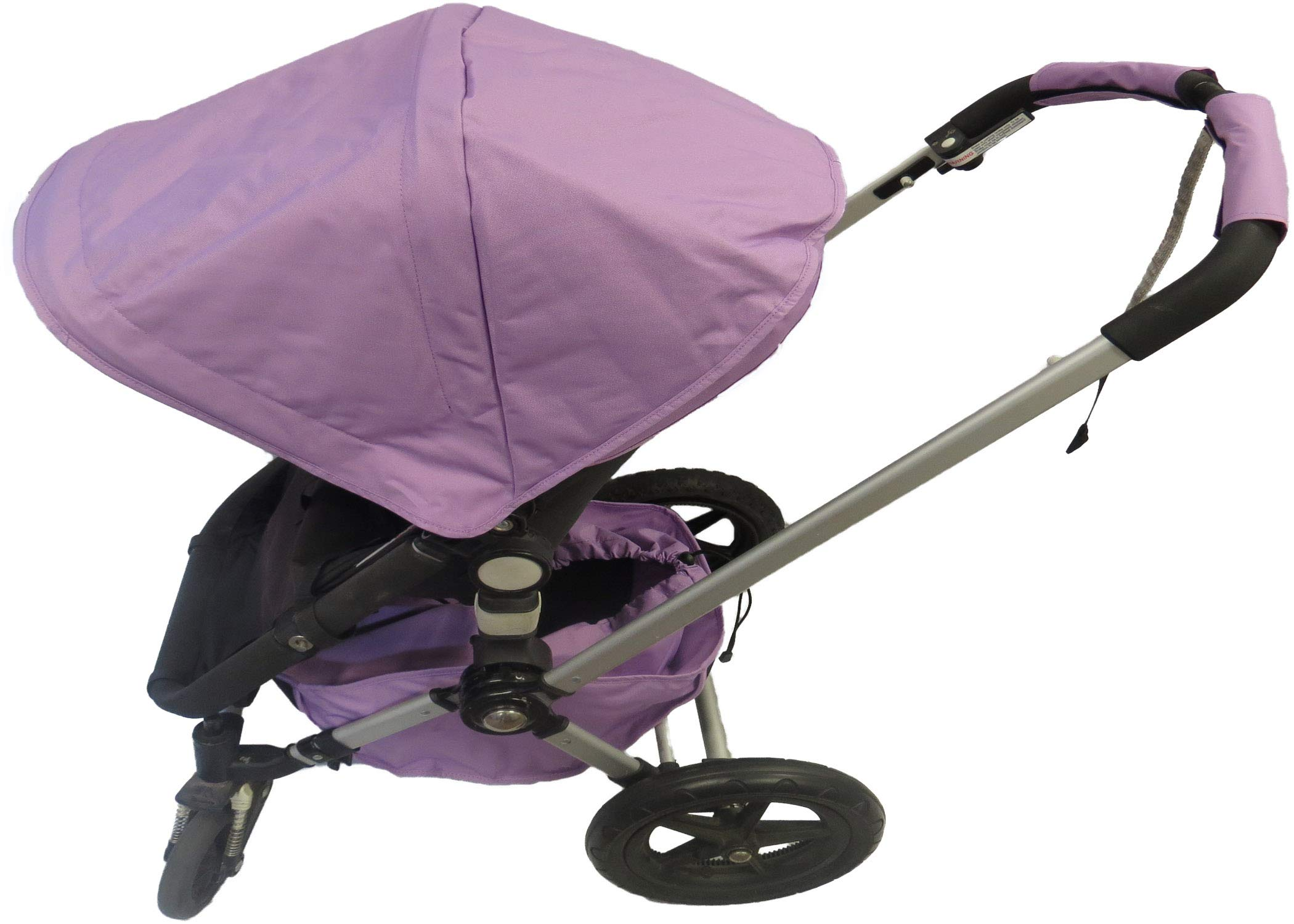 Light Purple Sun Shade Canopy Wires and Large Under Seat Storage Basket Plus Free Handle Bar Covers for Bugaboo Cameleon 1, 2, 3, Frog Baby Child Strollers by Ponini (Image #1)