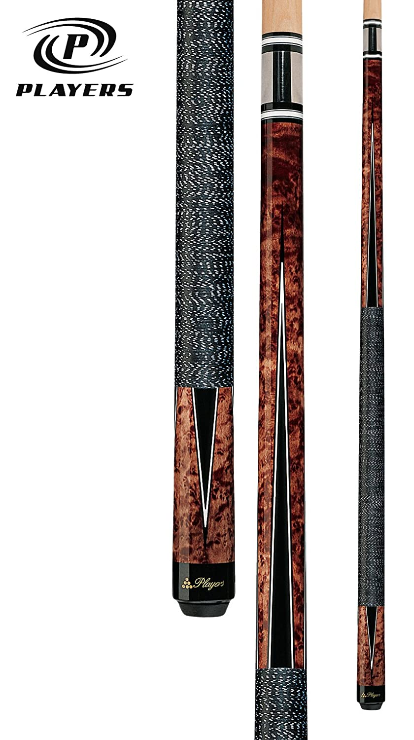 Players G-1003 Umbra Super Birds-Eye Maple with Black and White Points Cue, 20-Ounce PLY1058_2660547