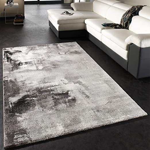 Fashion Carpets Elegant Checked Design Rugs Mottled Grey Red Black Silver Rugs