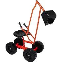 small foot 2020139 4628 graafmachine met schep en wielen voor kinderen, zandspeelgoed/strandspeelgoed, 360° draaibaar…
