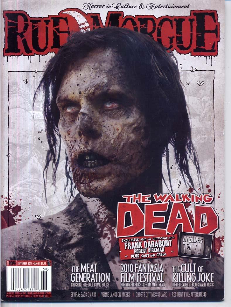Read Online Rue Morgue Magazine 104 THE WALKING DEAD Killing Joke PRE CODE HORROR COMICS Zombies ELVIRA September 2010 C (Rue Morgue Magazine) PDF