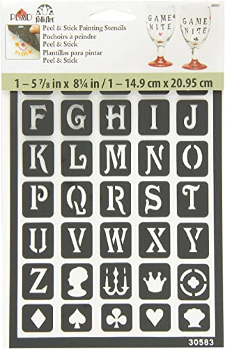 FolkArt Peel and Stick Painting Stencil 30583 Classic Alphabet