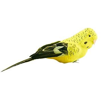 Am Design Deko am design deko vogel wellensittich 20cm gelb amazon de küche