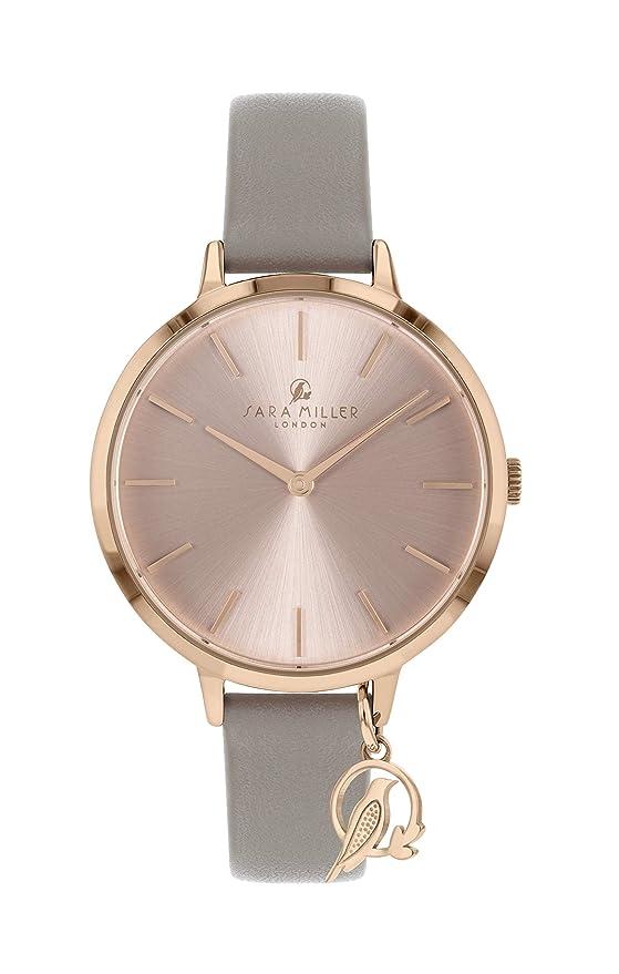 Sara Miller The Charm Collection SA2034 - Reloj con Correa de Piel chapada en Oro Rosa: Amazon.es: Relojes
