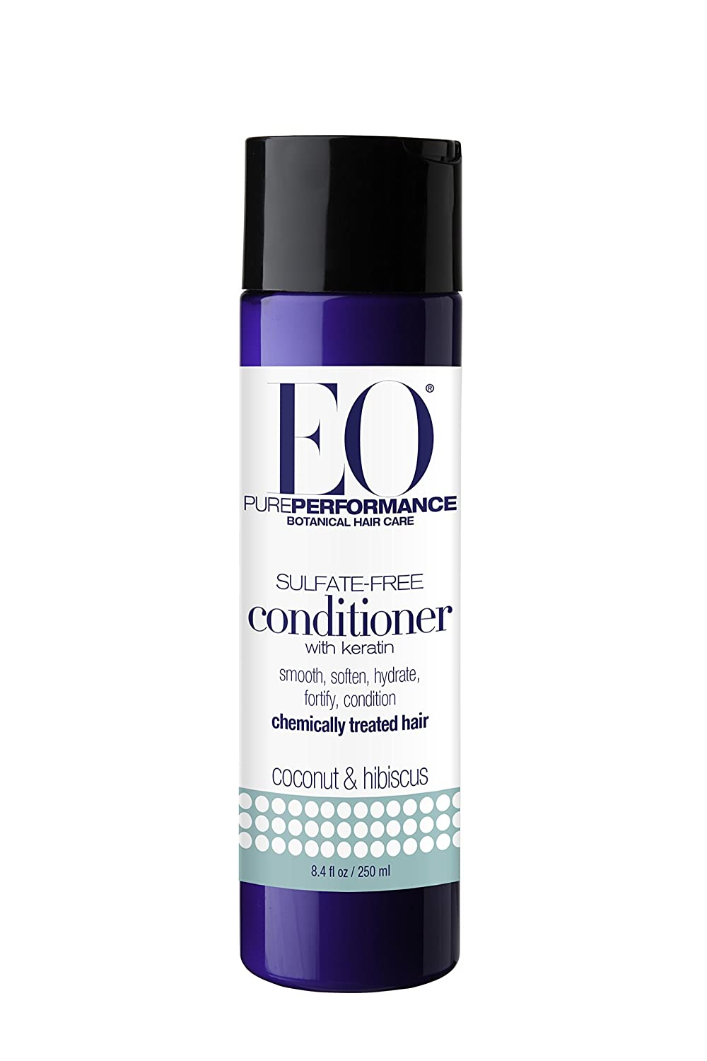 EO Botanical Sulfate-Free Conditioner with Keratin, Coconut & Hibiscus, 8.4 Ounce