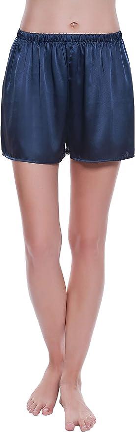 JINSHI Donna Pantaloncini Pigiama Morbide Modal Shorts da Notte Casa Pantaloni Corti con Tasche