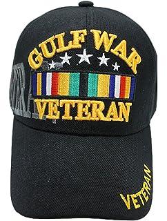 6764c033cb8 Gulf War Veteran Baseball Cap BLACK U.S. Vet Hat Army Air Force Marines Navy
