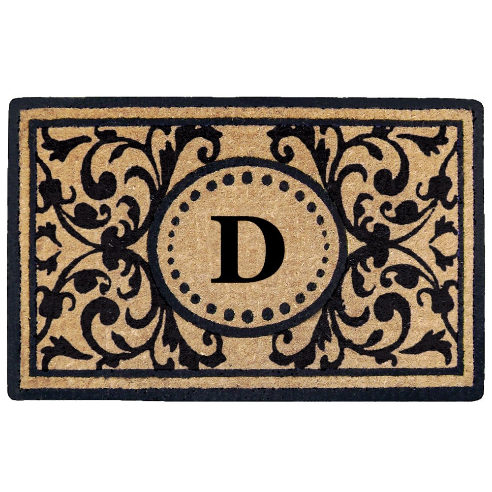 30 x 48 30 x 48 O2325D Nedia Home Monogrammed D Heritage Heavy Duty Coco Mat