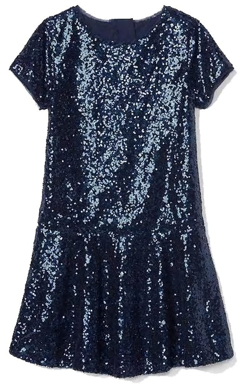 1920s Children Fashions: Girls, Boys, Baby Costumes GAP Kids Girls Navy Sequin Drop Waist Party Dress XXL 14 16 $29.95 AT vintagedancer.com