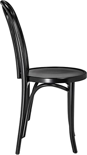 European Bentwood CURLICUE Wood Dining Chairs Black