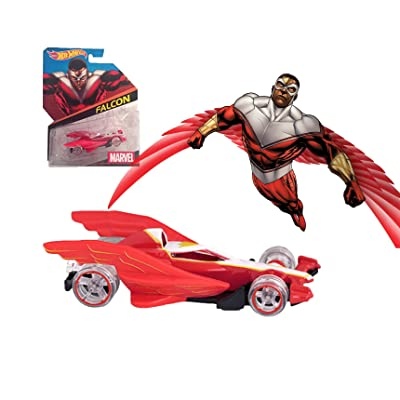 Hot Wheels Marvel Character Cars Falcon #8: Toys & Games [5Bkhe0402130]