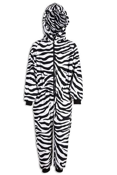 Pijama infantil de una pieza - Estampado de cebra: Amazon.es: Ropa y accesorios