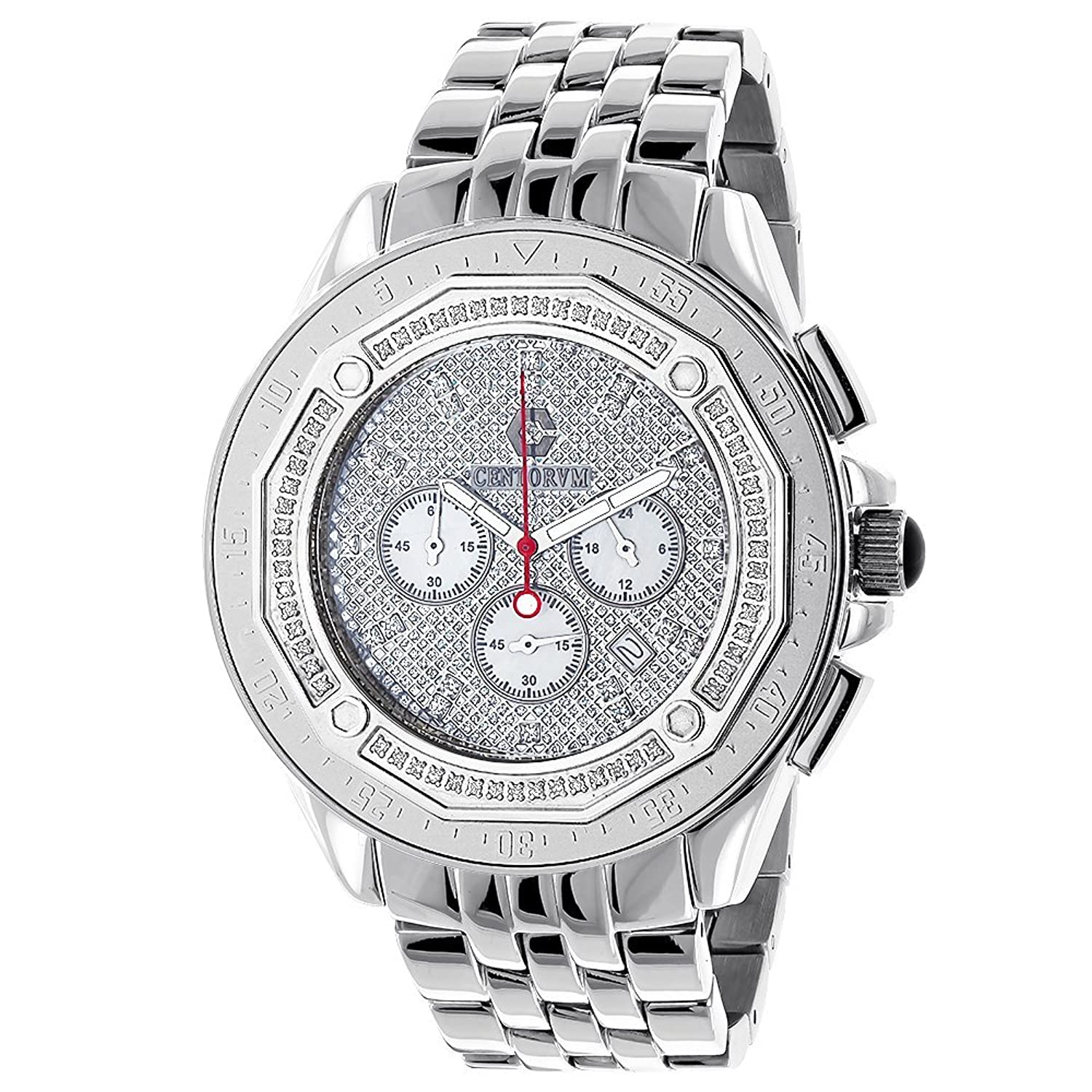 Centorum Mens Diamond Watches 0.55ct Falcon Chronograph
