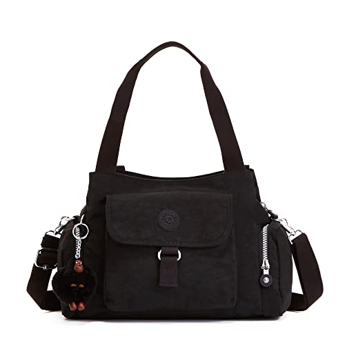 Amazon.com: Kipling Fairfax Satchel, Negro, talla única: Shoes