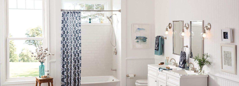Moen DN6886BN Sage Towel Ring Brushed Nickel with Moen DN6808BN Sage Toilet Paper Holder Brushed Nickel