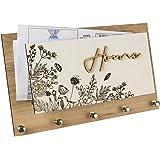 Porta Chaves e Cartas Home Floral Organizador Luxo