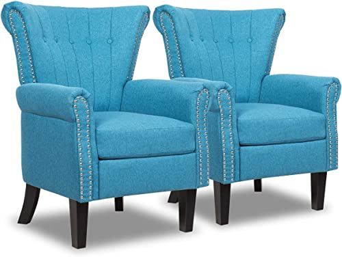 Giantex Set of 2 Fabric Accent Chairs