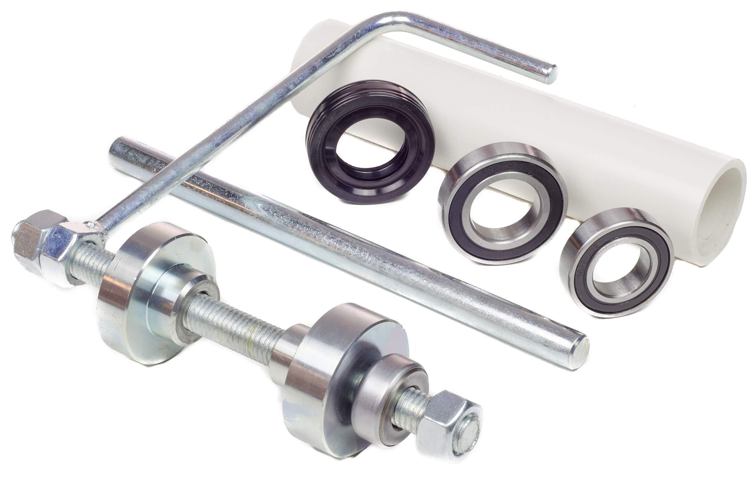 Kit King USA Whirlpool Tub Bearing Pusher Install Tool with Seal and Bearings, Bravos XL, AP5325033, W10447783, W10435302 Washing Machine Appliance Parts