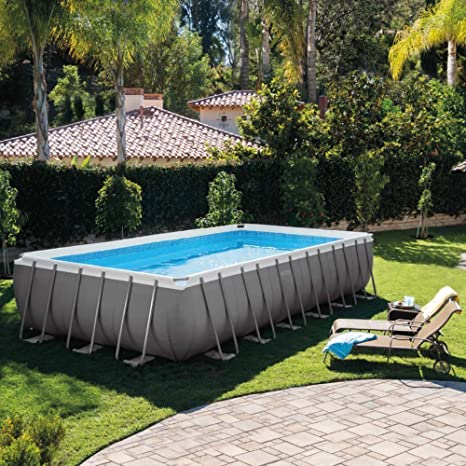 INTEX Piscina Ultra Metal – 732 x 366 x 132