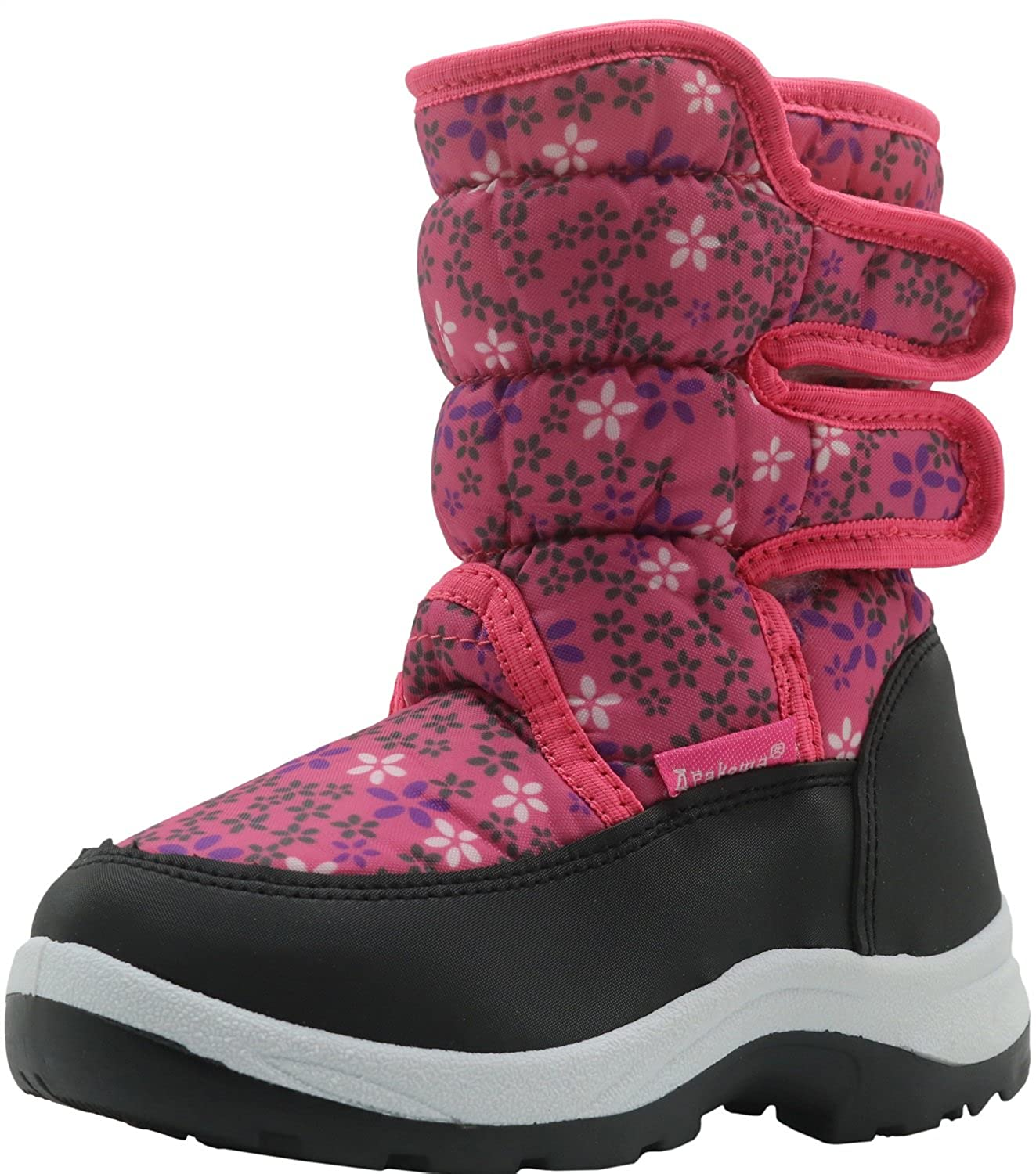 Apakowa Kid's Girls Cold Weather Snow Boots (Toddler/Little Kid) H3304-US