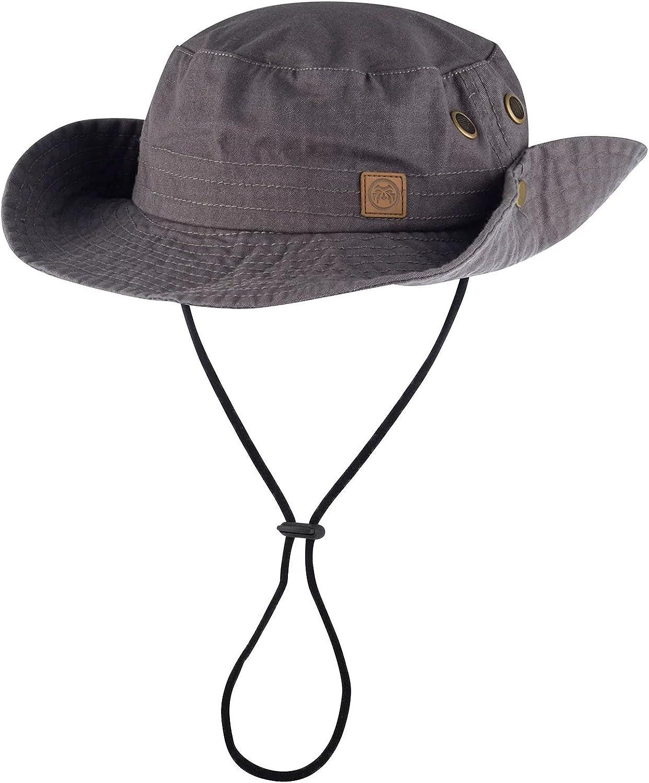 One Size Urban Beach Mens Bush Walk Hat Grey