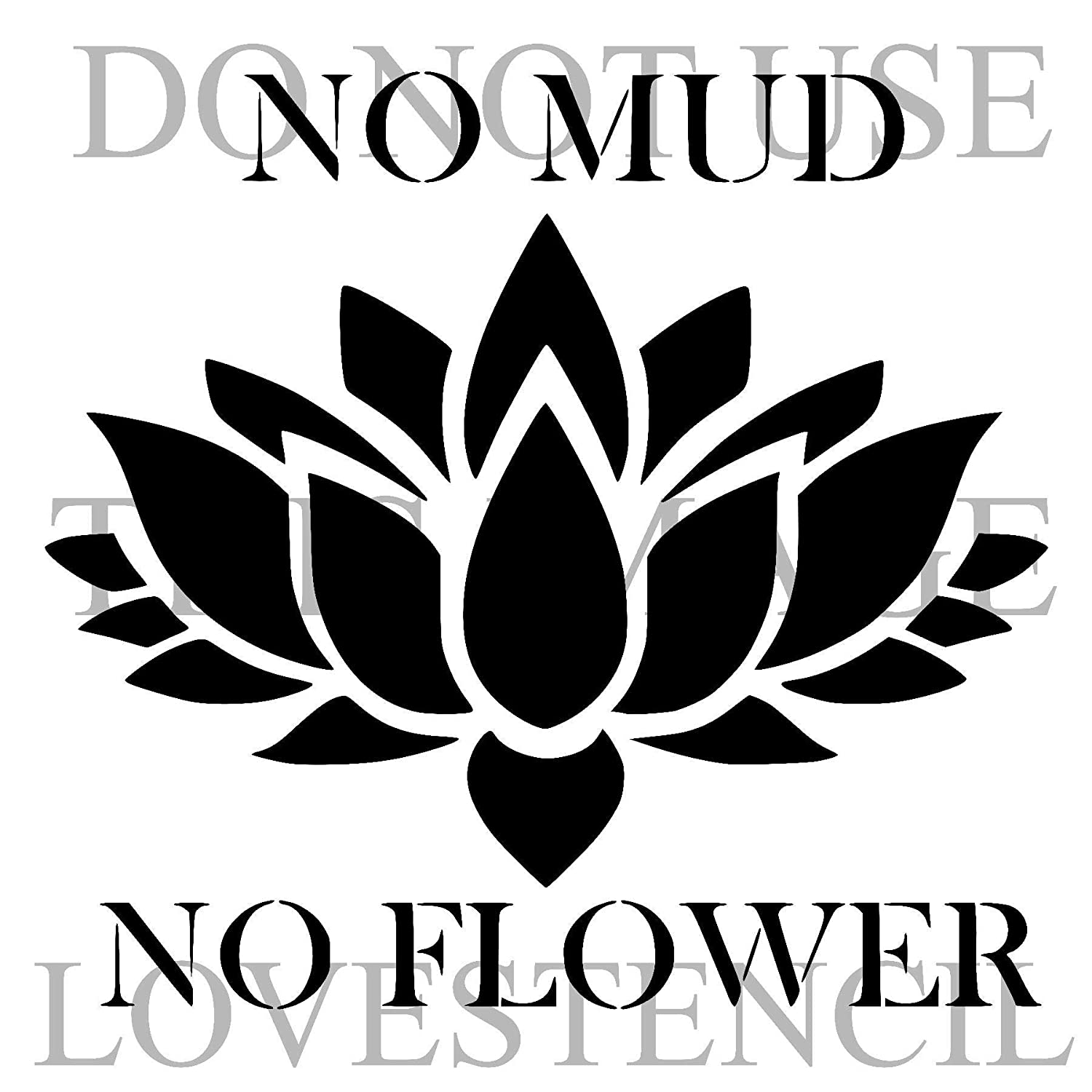 lotus flower 1 stencil. Choose size and thickness. SMALL
