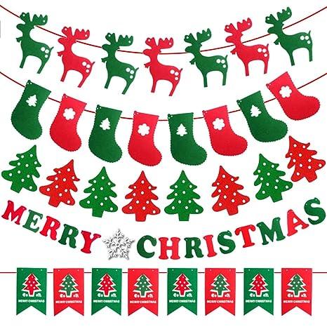 Weihnachtsfeier Dekoration.Frohe Weihnachten Banner Kit Weihnachtsfeier Dekoration Handwerk