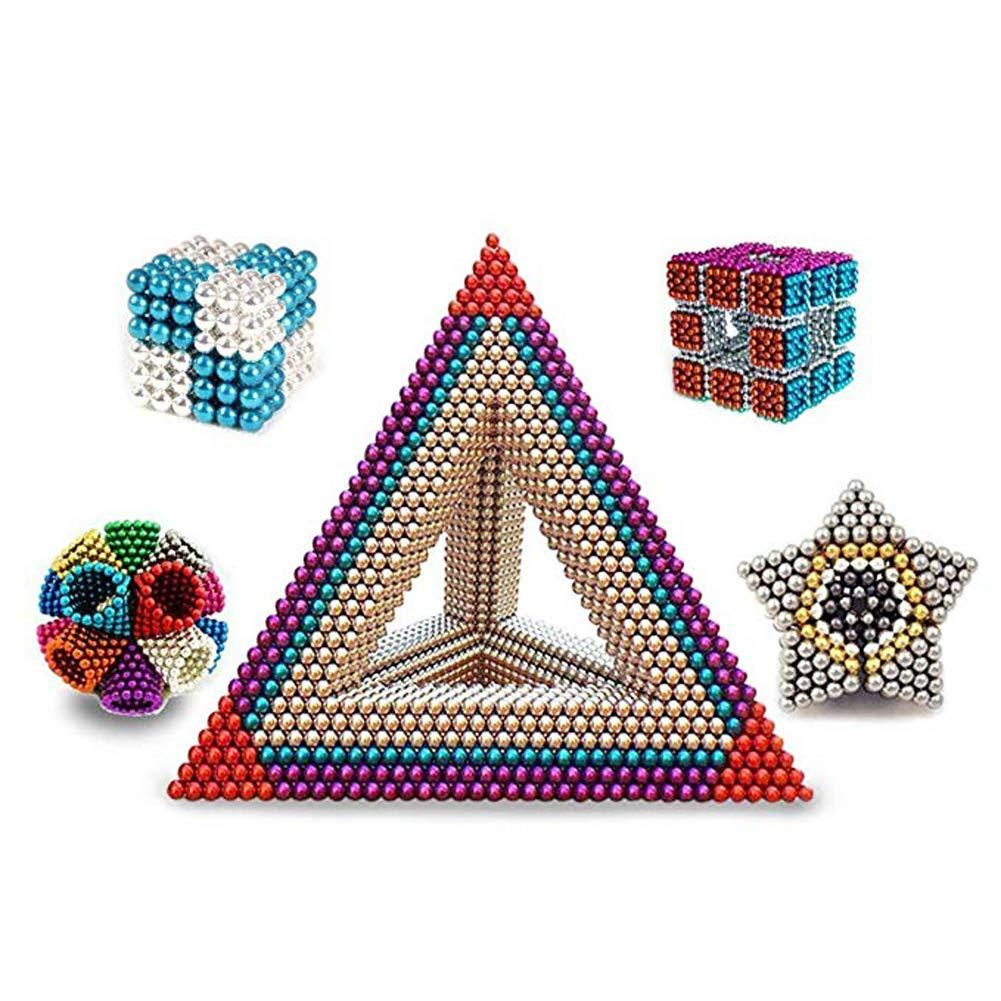 ZHAB Palline Magnetiche,1000 PCS 5mm Magnete Cubo Classic Giocattoli Impilati Educativi Giocattolo Creativo della Tabella di Decompressione Che Costruisce I Giocattoli Educativi 3D Adulto