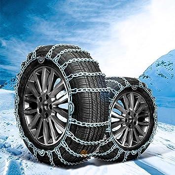 Cadena de Nieve Antideslizante Cadena de Nieve para el automóvil Cadena de Emergencia para la Cadena de Nieve de Invierno Adecuada para la mayoría de los ...