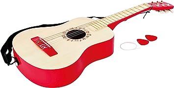 Hape- Guitarra española, Color Rojo (Barrutoys E0325): Amazon.es ...