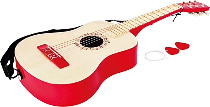 Hape- Guitarra española, Color Rojo (Barrutoys E0325): Amazon.es ...