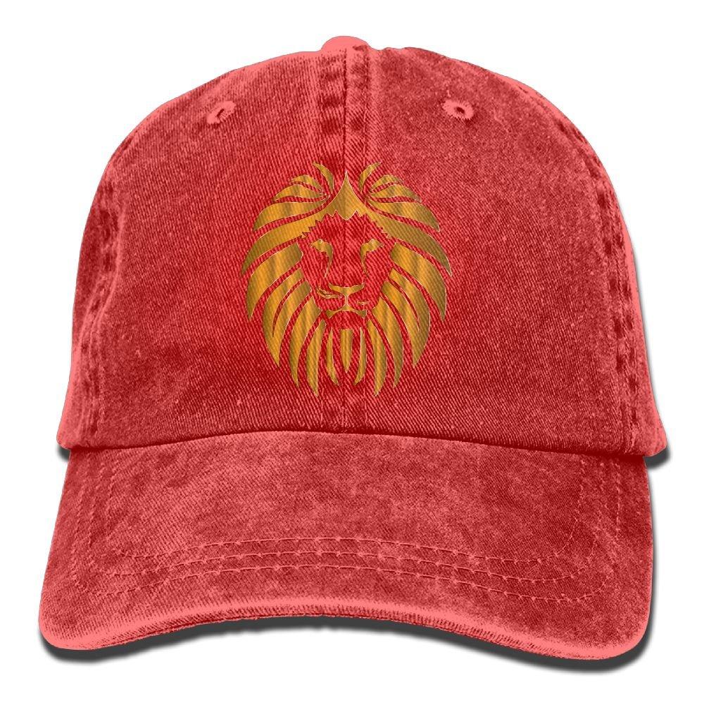 XZFQW lions Head Trend Printing Cowboy Hat Fashion Baseball Cap For Men and Women Black