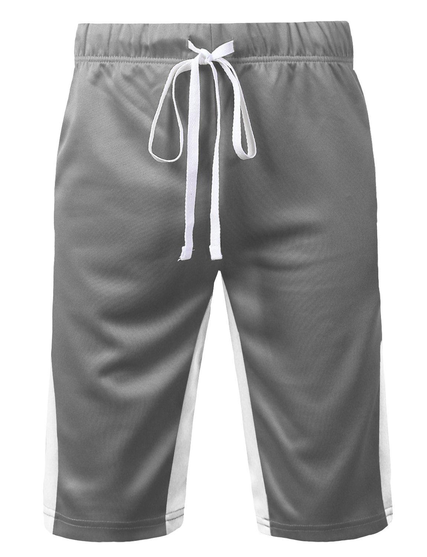 URBANCREWS SHORTS メンズ B07CSD456B Small Ambs051_greywhite Ambs051_greywhite Small
